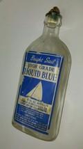 Nautical Vintage BRIGHT SAIL Liquid Blue, Embos... - $16.78