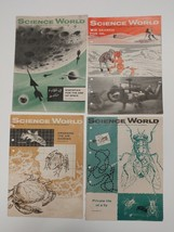 Lot of 4 Science World Magazines 1/14/58 3/20/58 4/17/58 5/1/58 [oil fly... - $19.79