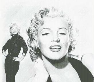 Hollywood Greats Marilyn Monroe cross stitch chart Mystic Stitch