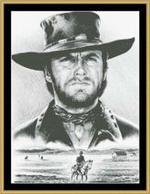 Hollywood Greats Clint Eastwood The Stranger cross stitch chart Mystic Stitch - $14.40