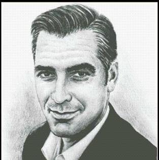 Hollywood Greats George Clooney cross stitch chart Mystic Stitch