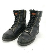 Harley Davidson Casper 94043 Black Motorcycle Side Zip Boots Men's Size ... - $93.46