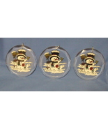 Set of 3 Colors of the Season Christmas Snowman Ornaments - $4.95