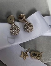 Authentic Christian Dior 2018 LIMITED CD Crystal Logo Initial Star Pearl Earring image 8