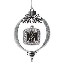 Inspired Silver Class of 2019 Classic Holiday Christmas Tree Ornament With Cryst - $14.69