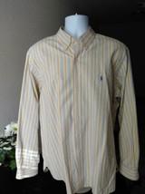 Ralph Lauren Men's Yellow Bike Stripe Shirt XL  008-a - $13.98