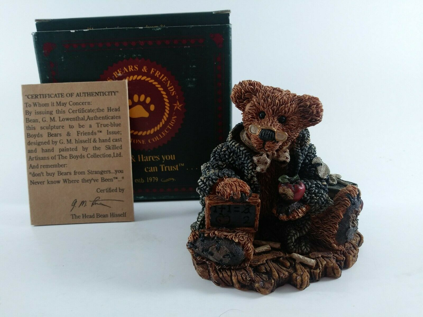 "Primary image for 1993 Boyds Bears ""Wilson the Perfesser"" #2222(3""x3.25"")W/Box&Certificate"