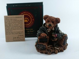 "1993 Boyds Bears ""Wilson the Perfesser"" #2222(3""x3.25"")W/Box&Certificate - $12.60"