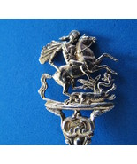 London England Sterling Silver Souvenir Collector Spoon KNIGHT Fighting ... - $49.99