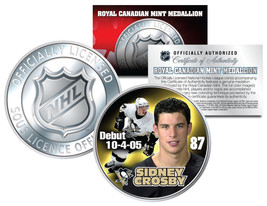 2005-06 SIDNEY CROSBY Royal Canadian Mint Medallion NHL DEBUT Rookie Coin - $8.86
