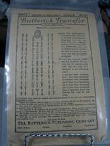 Vintage Butterick 10972 Needlework Monogram Initials Transfers Pattern - $15.83