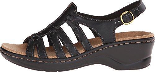 CLARKS Women's Lexi Marigold Q Black Leather 9 B - Medium