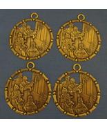 Set of 4 Bronze Metal Christmas Ornaments - $5.95