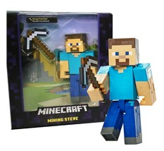 "Minecraft Mining Steve with Iron Pickaxe 5"" Action Figure New in Package - $19.88"