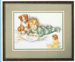 Bessie Pease Gutmann Asking For Trouble Letter to Santa Cross Stitch Pat... - $13.99