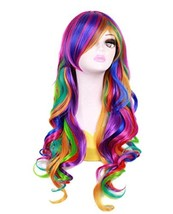 27.56'' Long Women Rainbow Wavy Cosplay Heat Resistant Wig - $23.19