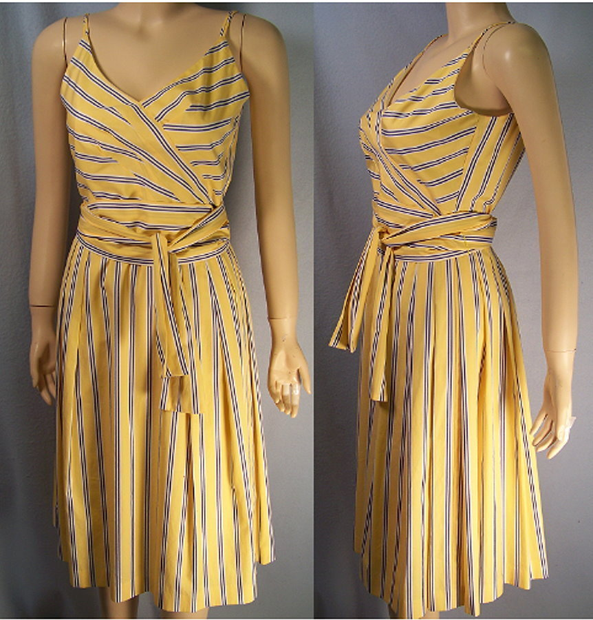 Primary image for Sunny Yellow spagetti strap sun dress size 4 new