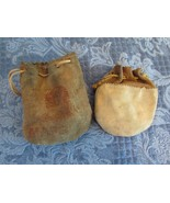 Vintage Marbles Lot Various Makers & Types In Two Old Leather Marble Bags - $64.41