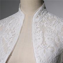 Long Sleeve Wedding Lace Cover Ups Retro Style Lace Bridal Boleros, white, plus image 4