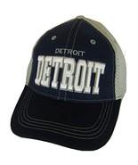 Detroit Solid Front Air Mesh Back Adjustable Baseball Cap (Navy/Gray) - $12.95