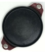 "Princess House Mi Cocina Cast Iron 10"" Comal Flat Griddle #1448 Red Enamel USED - $39.55"