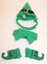 Petco Christmas Elf Cat Costume One Size Green Accessory Set Pet Small Dog - $12.16