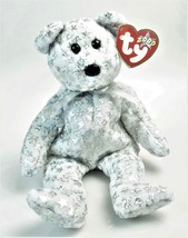 The Beginning Bear Ty B EAN Ie Baby January 1 2000 Silver Sparkle Stars Retired - $13.86