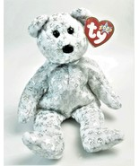 THE BEGINNING BEAR TY BEANIE BABY January 1 2000 SILVER SPARKLE STARS RE... - $13.86