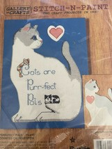 Gallery of Crafts Purr-Fect Pals Counted Cross Stitch Kit Stitch N Paint... - $9.90