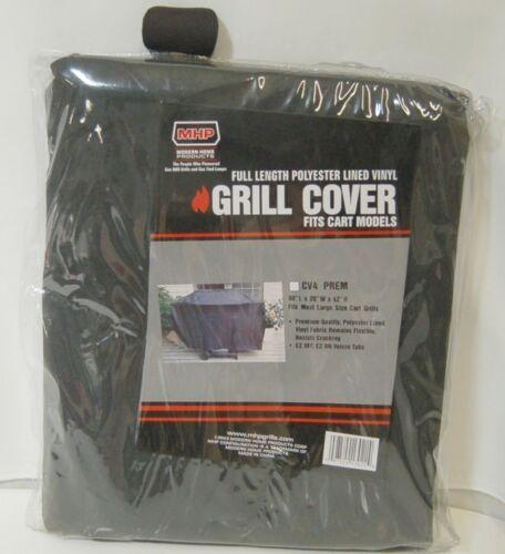 MHP CV4PREM Full Length Polyester Lined Vinyl Grill Cover Color Black