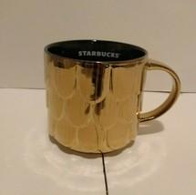 Starbucks 2019 Gold Mermaid Scales Holiday Mug 14 oz - $9.89