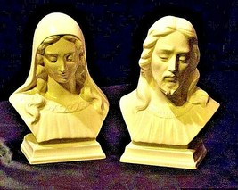 Vintage hand-made ceramic statues of Mary and Jesus  AA19-1393 image 1