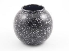 Vintage Scheurich Black & White Specs Ball Orb Vase W. Germany 3 Circle ... - $29.75