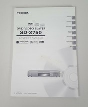 TOSHIBA DVD VIDEO PLAYER SD-3750 OWNER'S MANUAL 2001 - $9.74