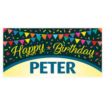 Colors Flags Personalized Birthday Banner Party... - $22.50 - $37.00