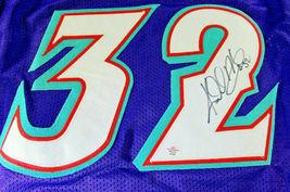 KARL MALONE / NBA HALL OF FAME / HAND SIGNED UTAH JAZZ CUSTOM JERSEY / COA image 3