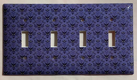 Haunted Mansion purple wallpaper Light Switch Outlet wall Cover Plate Home Decor image 11