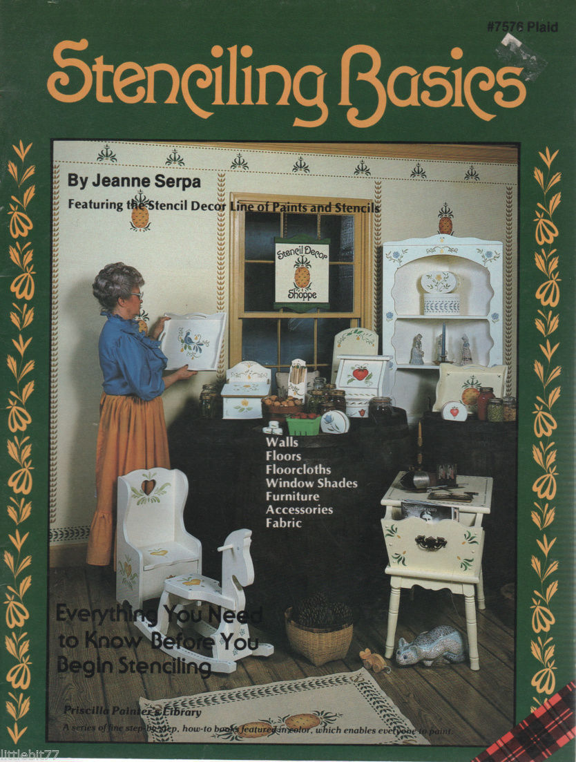 Primary image for Stenciling Basics # 7576 Plaid by Jeanne Serpa Painting Book