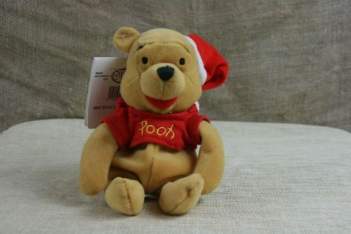 Disney The Disney Store Christmas Winnie the Pooh Plush With Tags