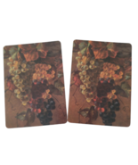 2 Single Swap Fine Art Painting Green Grapes Still Life Playing Cards Paper  - $1.98