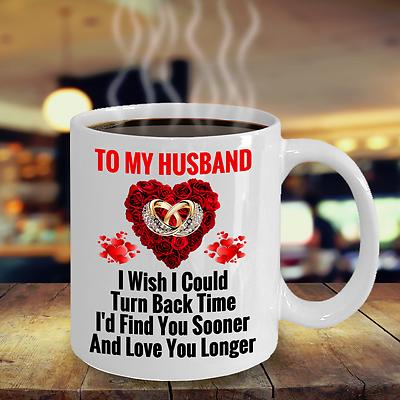 Surprise Birthday Wedding Anniversary Love Gift For Husband Hubby Him Coffee Mug