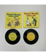 Scholastic Records CURIOUS GEORGE TAKES A JOB and RIDES A BIKE - 33 1/3 RPM - $17.49
