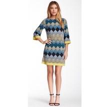 ELIZA J Printed Shift Stretch Jersey Dress geometric style #NO4M6467 sz 6 small - $34.64