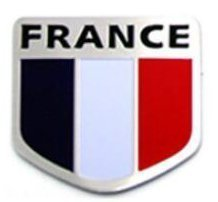 "France Car Alloy Aluminum 3D Flag Emblem Badge Decals Sticker 2"" x 2"" - USA Ship"