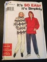 Simplicity 8314 Sewing Pattern, Misses', Men's and Teens' Top and Pants, Size A  - $9.89