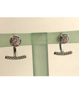 Authentic Pandora Abstract Elegance Earrings, Clear CZ,  290743CZ, New - $57.94