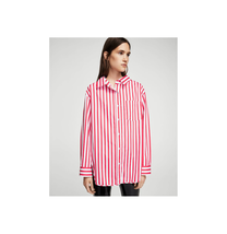 Mango Chamisa Cherry Striped Oversized Shirt Size US S/M NWT - $45.53
