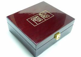 Gran Acabado Correa Caja Madera de Regalo Organizador Almacenaje Calidad - $50.32