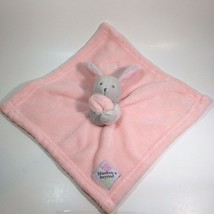 Blankets and Beyond Bunny Lovey Gray Rabbit Pink Security Blanket Rabbit - $19.99