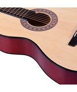 ADM 38 Inch Acoustic Guitar Cutaway 6 Steel Strings for Beginner, Natura... - $155.98